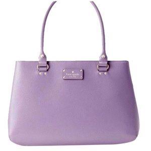 Kate Spade Elena Wellesley Lilac Leather Satchel